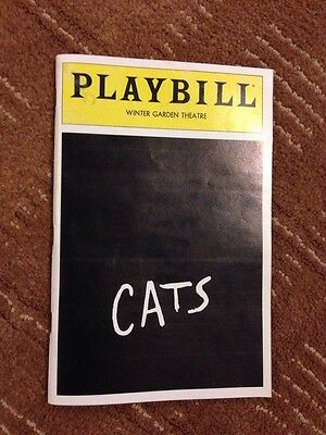 Ken Page Signed Cats Playbill April 1983 Vol 83 No 4 Betty Buckley Winter Garden