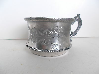 Antique  Silver Child's Drinking Cup  Quadruple Plate -- Middletown Silver Co.