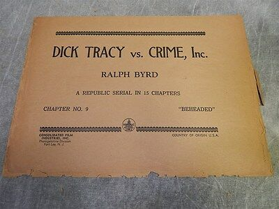 1941 Dick Tracey Vs. Crime, Inc.#9 Sack or Bag for Press kit, or Photos or poste