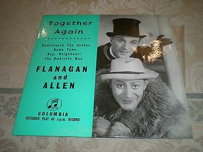 Flanagan And Allen Ep - Together Again  = Columbia Seg 7709