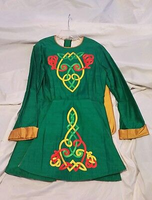 Green Orange and Gold Irish Dance Dress