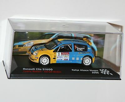 RENAULT CLIO S1600 - Rallye Alsace-Vosges 2006 - Rally Model Scale 1/43
