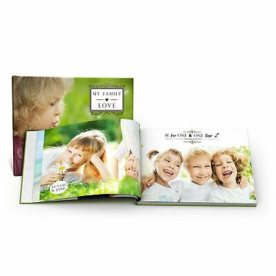 A4 Hardcover Personalised PHOTO BOOK Scrapbook Album Custom Memories 20 Pages