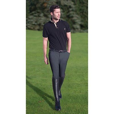 Tredstep Ireland Symphony Verde Breeches - Mens Knee Patch - 36L Charcoal