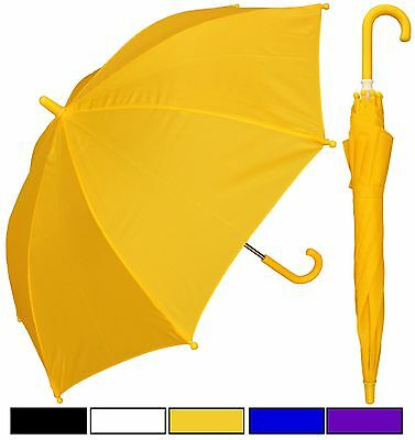 "Lot of 12 - 32"" Children Kid Solid Color Umbrellas - RainStoppers Rain/Sun UV"