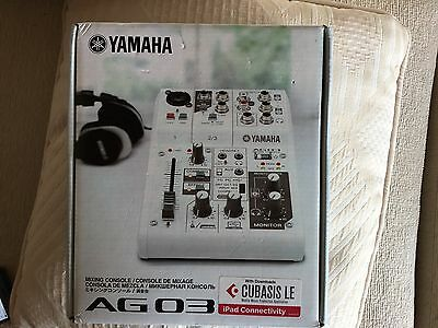 Yamaha AG03 3 Channel Mixer and USB interface