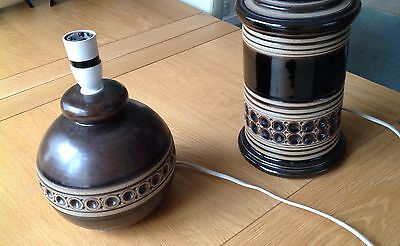 2 Vintage 1970s Jersey Pottery Table Lamps
