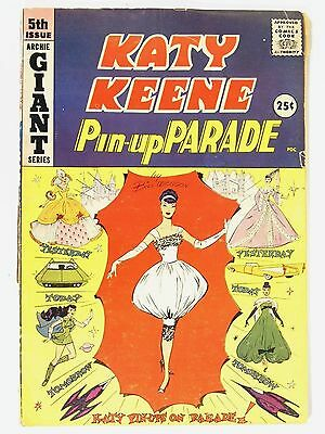 Katy Keene Pin Up Parade #5 Archie Giant 1959 Yesterday Today Tomorrow Good Con.
