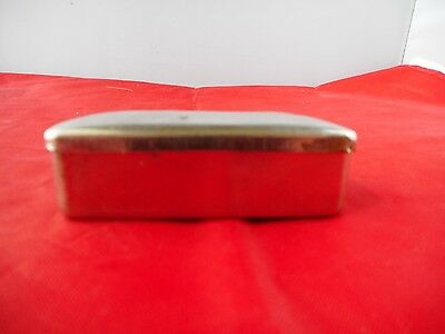 VINTAGE SMALL WHITE METAL BOX-7x3.25cms and 2cms high