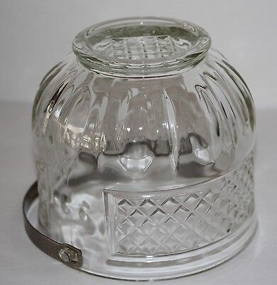 Vintage Clear Glass Ice Bucket