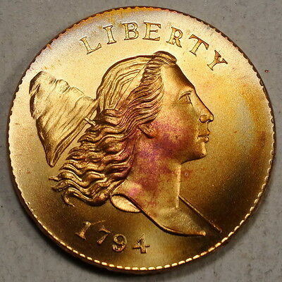 Gallery Mint 1794 Half Cent, Low Relief, Large Head, Gem with Nice Toning