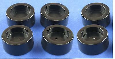 Vintage Coleco Table Hockey Game Black Plastic Pucks Set Of 6 Eagle Munro