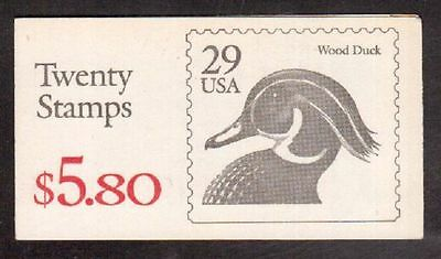 29 Cent Wood Duck Booklet of 20 Stamps   MNH Still Sealed