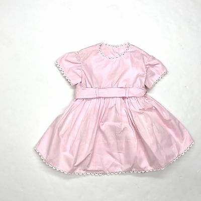 Vintage Toddler Girl Pink Party Fancy Dress Full Skirt Organdy Petticoat Sz 2T