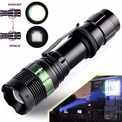 9000 Lumen Zoomable Cree XML T6 LED 98650 Flashlight Focus Torch Zoom Light HOT5