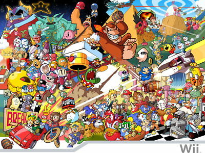 Characters Nintendo Wii Video Game Wall Print POSTER UK