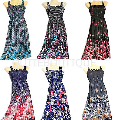 US SELLER wholesale dresses LOT of 6 new sundress sheer tube top dress