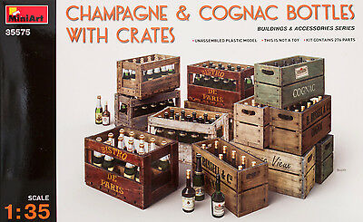 Champagne & Cognac bottles with crates  MiniArt 35575 SCALA 1:35