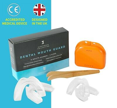 Time2sleep 4 Dental Mouth Guards gum shield teeth grinding or clenching BRUXISM