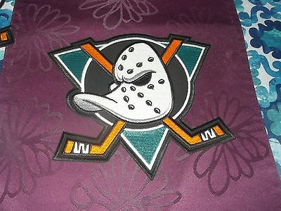 """NHL Anaheim Ducks - Patch for Coat or Jersey 9"""" x 8.5"""" Green Background"""