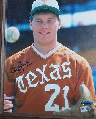 Roger Clemens Autographed 8x10 COLLEGE Photo Red Sox Yankees Bluejays Astros