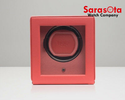 Wolf Designs 461142 Coral Single Watch Winder With Cover