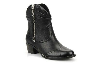 Clarks Ladies Marie Chloe Black Leather Ankle Boots Uk Size 6D
