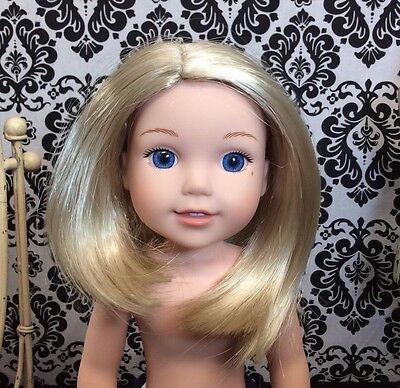"American Girl Wellie Wishers Camille Authentic 8-9"" Doll Wig Light Blond"