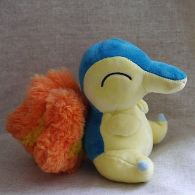 Official Pokemon Cyndaquil Plush Toy SANEI Pocket Monster Doll Christmas Gift