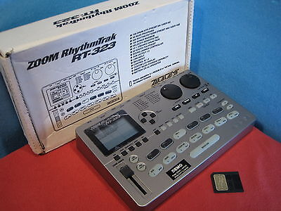 Excellent ZOOM RT-323 RT323 Rhythm Drum Machine Bass Used