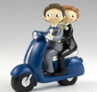Cake Topper Mr & Mr in moto matrimonio Gay lui e lui wedding