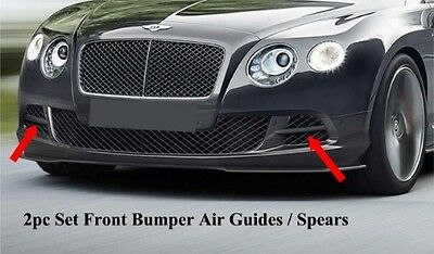 2012-2015 Bentley Continental GT W12 Air Guides Spears (Set) (UNPAINTED)