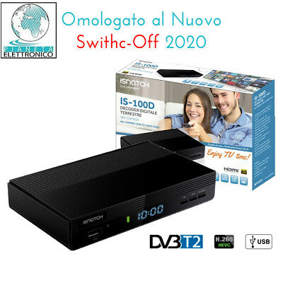 Decoder Digitale Mini Dvb T2 Scart 180 Usb Hdmi Hd 333 Terrestre
