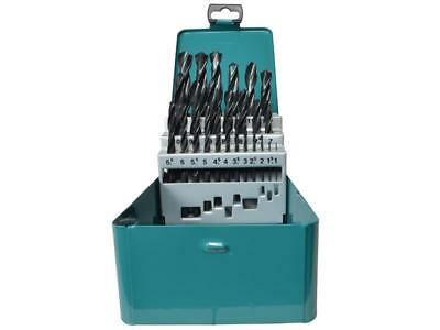 Makita D-54097 25pc HSS-R Metal Drill Bit Set With Metal Storage Case