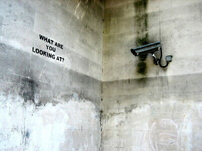 What Are You Looking At Banksy Graffiti Street Art Wall Print POSTER AU