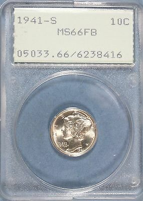 "1941-S Mercury Dime PCGS MS-66 Full Bands  ""Old Rattler""  #GA"