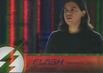 The Flash Season 2 Foil Parallel Quotable Cisco Chase Card Q08