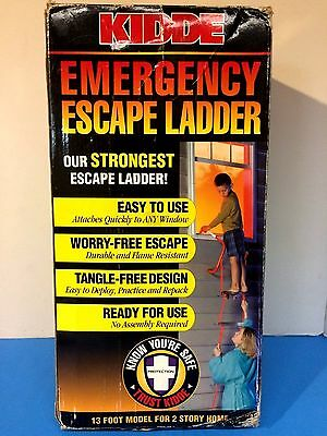 Kidde Emergency Two Story Escape Ladder 13 Feet Tall, Safety First Features
