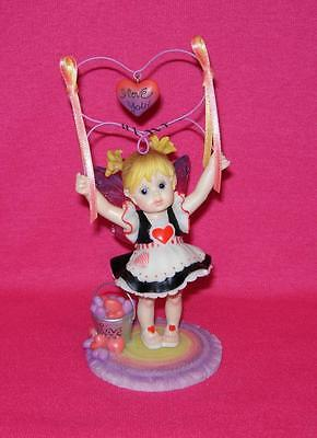 My Little Kitchen Fairies I LOVE YOU Fairie Holding Heart Valentine