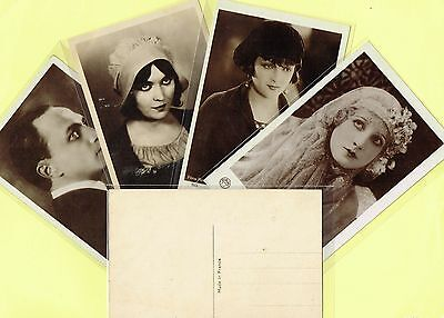 EUROPE - 1920s Film Star Postcards Produced in France #1 to #333