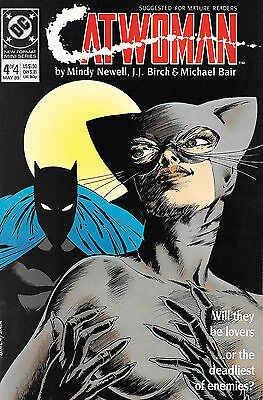 Catwoman #4 1989 Signed By Mindy Newell