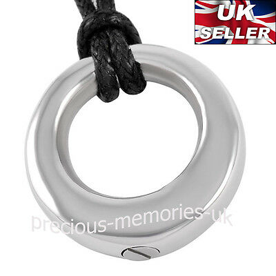Circle of Life Cremation Ashes Necklace Funeral Memorial Jewellery Urn Pendant