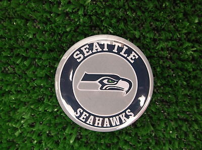 SEATTLE SEAHAWKS BADGE or FRIDGE MAGNET