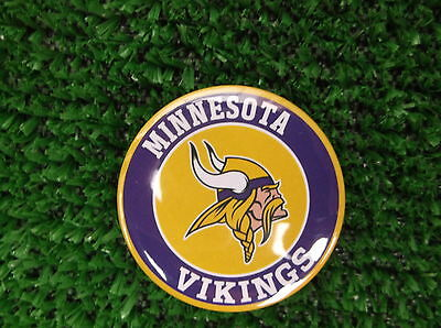 MINNESOTA VIKINGS  BADGE or  FRIDGE MAGNET  38mm  in size
