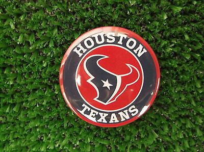 HOUSTON TEXANS BADGE or FRIDGE MAGNET  38mm