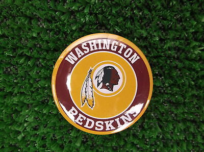 WASHINGTON REDSKINS BADGE or  FRIDGE MAGNET  38mm  in size