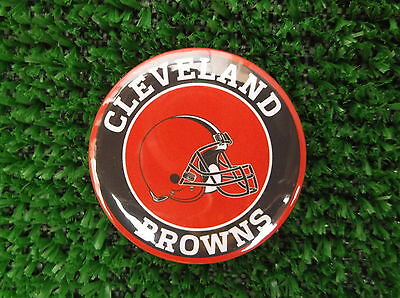 CLEVELAND BROWNS  BADGE or  FRIDGE MAGNET  38mm  in size