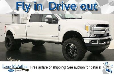 2017 Ford F-350 LIFTED LARIAT MAC TRUCK 4X4 CREW CAB MSRP $83375 UPER DUTY DUALLY 4WD 4 DOOR POWERSTROKE DIESEL SPECIALTY TRUCK NAVIGATION