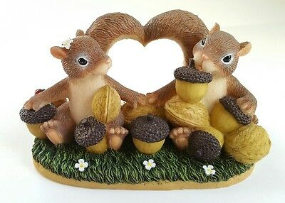 "Fitz & Floyd Charming Tails I""M NUTS OVER YOU Mouse Figurine with Box"