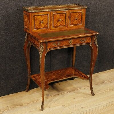 Secretary desk inlaid desk furniture wood table small table antique style 900